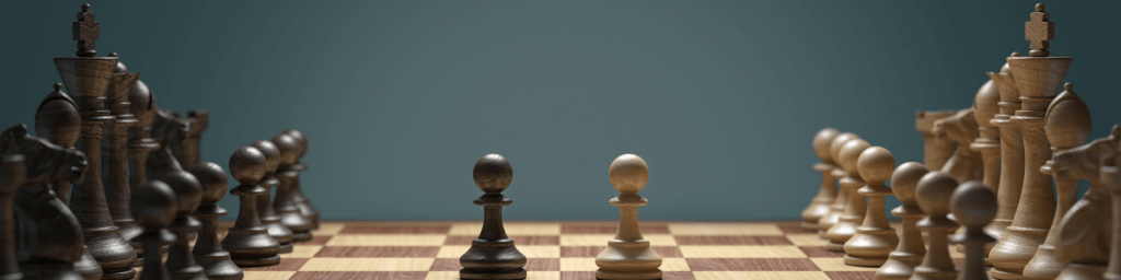 image of a chess board to represent the strategic nature and complexity of marketing analytics