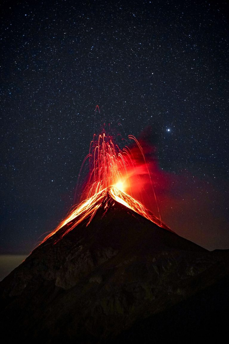 volcano erupting shown to indicate how powerful business intelligence and business analytics can be for organizations